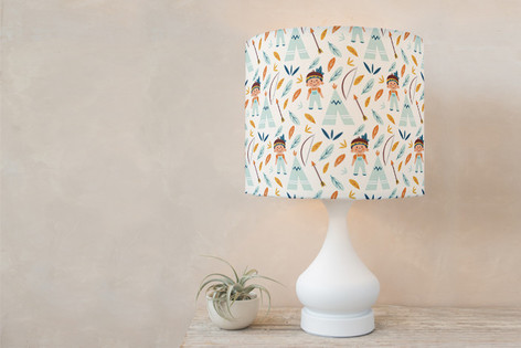 Tepee Self Launch Drum Lampshades