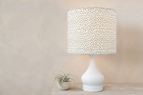 Delicate Dots-1 Self Launch Drum Lampshades