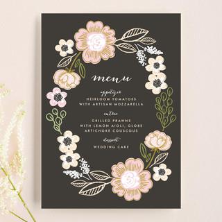 Botanical Wreath Menu Cards