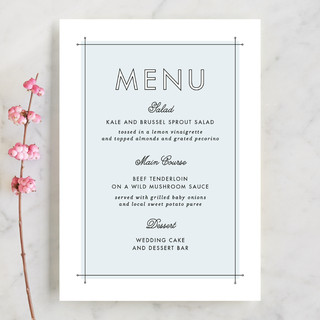 Me & You Menu Cards