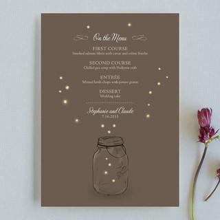 Fireflies Menu Cards