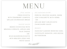 All About That Type Menu Cards