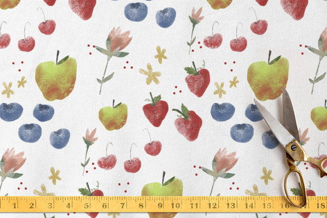 FLORA and the FRUIT 3 Fabric