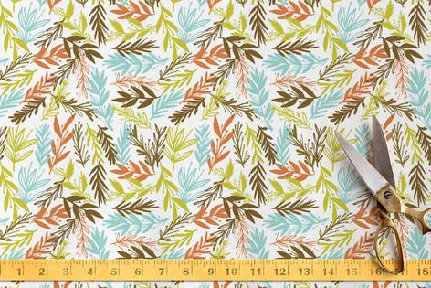 leaves & beauty Fabric