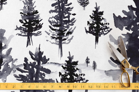 Winter Firs Fabric Fabric
