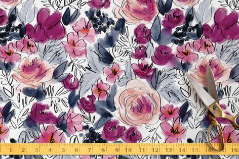 Bloom at Midnight Fabric