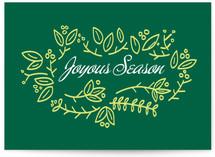 Joyous Season & leaves Cards
