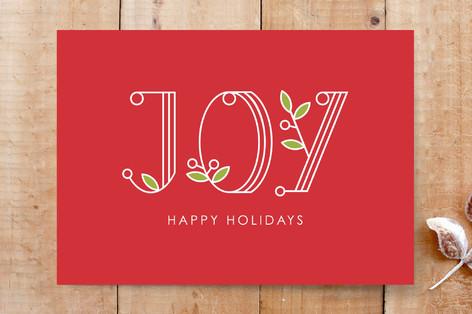Joy Mistletoe Cards