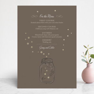 Fireflies Foil-Pressed Menus