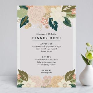 Classic Floral Foil-Pressed Menus