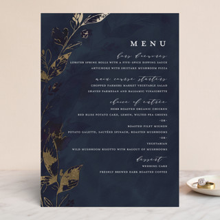 Midnight Vines Foil-Pressed Menus