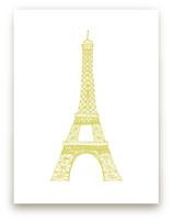 The Eiffel Tower in Pen Wall Art Prints