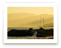 Windmills at dawn by Alaric Yanos