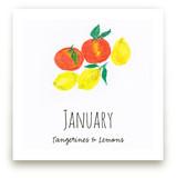 January fruits Wall Art Prints