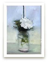 Blue Stripe, White Flower