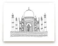 The Taj Mahal in Pen Wall Art Prints