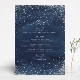 Sparkling Night Sky Gloss-Press™ Menus