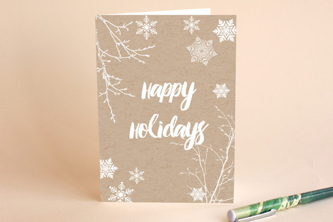 Snowflakes & Twigs Holiday Cards