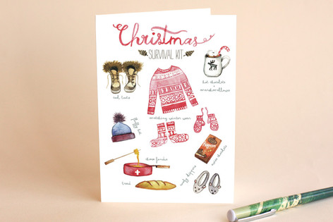 Scandinavian design Holiday Cards