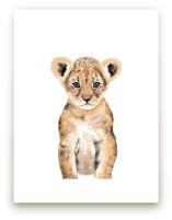 Baby Animal Lion Wall Art Prints