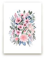 Clara watercolor loose bouquet