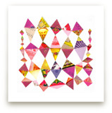 Pink Diamonds Art Print by Shelley Kommers