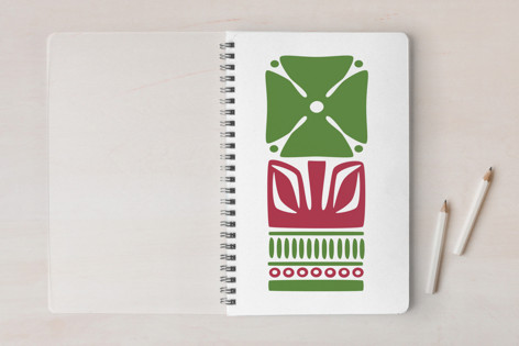 Nordic Green Flower Notebook Notebooks