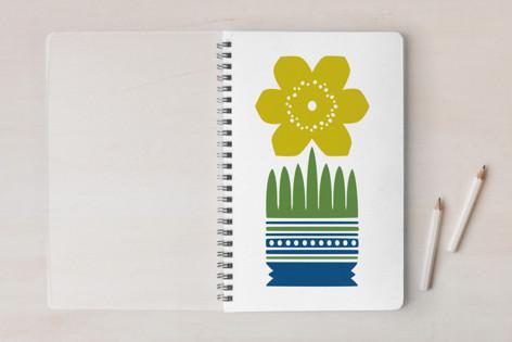 Nordic Yellow Flower Notebook Notebooks