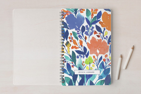 hand painted flowers2 Notebooks