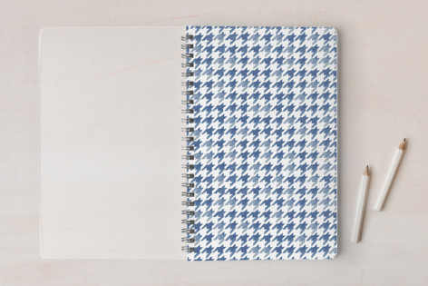Watercolor Houndstooth Notebooks