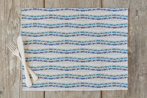Chevron Stripe Braids Self Launch Placemats