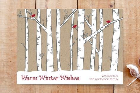 Warm Winter Woods Custom Stationery