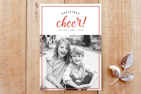 Cheerful Christmas Custom Stationery