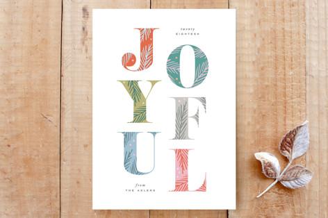 Joyfully Decorated Type Custom Stationery