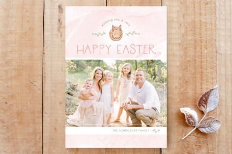 Pastel Bunny Custom Stationery