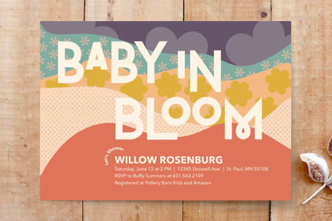 Baby in Bloom Custom Stationery