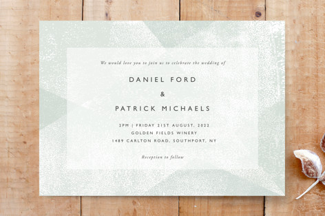 Elegantly Minimal Hand Printed Ink Texture Custom Stationery