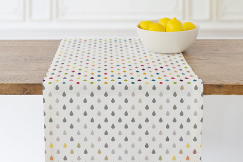 Colored Rain Self Launch Table runners