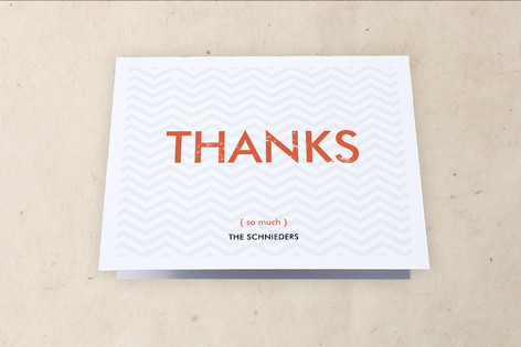 Zigzag Stamp Moving Announcements Thank You Cards