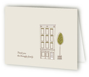 The City Moving Announcements Thank You Cards