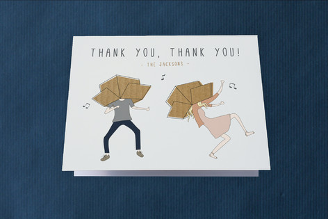 Move It Move It Moving Announcements Thank You Cards