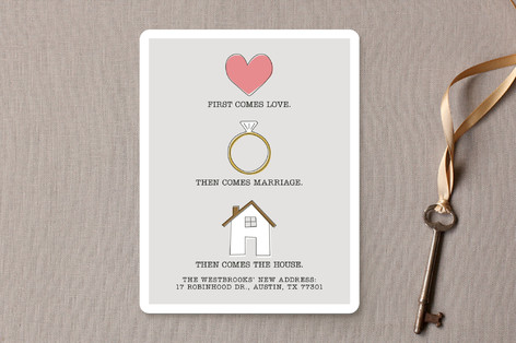 Love, Marriage, House Moving Announcements