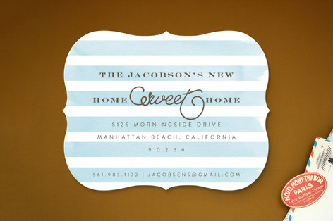 Preppy Home Sweet Home Moving Announcements