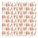 Hand Lettered Joy Love Peace Wrapping Paper