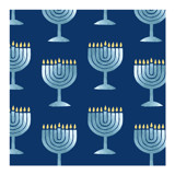 Glimmering Menorah by Lisa Travis
