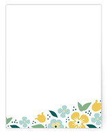 Spring bouquet Women's Flat Stationery