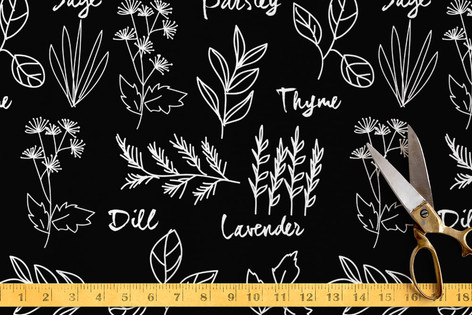Herbs In My Garden Fabric