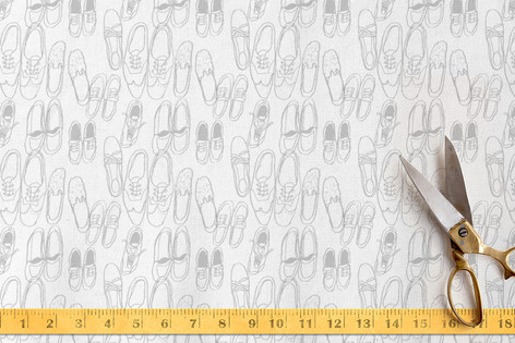 Messy Shoes Fabric