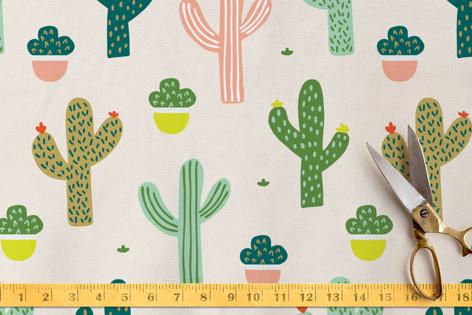 Happy Cacti Fabric