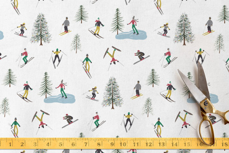 Ski Holiday Fabric